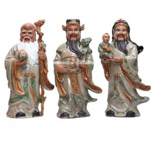 tượng sứ tam đa - gốm sứ bát tràng cao 48cm